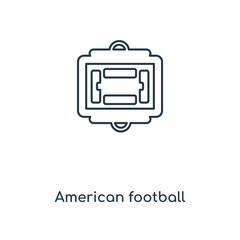 American football scores concept line icon. Linear American football scores concept outline symbol design. This simple element illustration can be used for web and mobile UI/UX.