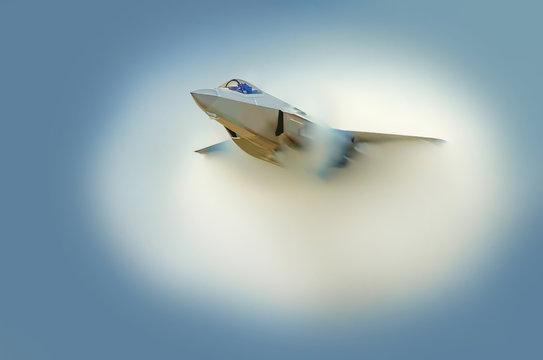Jet sonic cloud boom