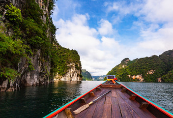 Beautiful holiday day in Khao Sok National park, Suratthani,Thailand