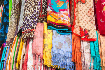colorful Turkish scarves