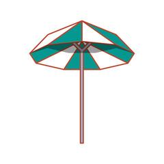umbrella open isolated icon