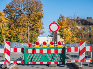 Durchfahrt Verboten Baustelle Straßenbau