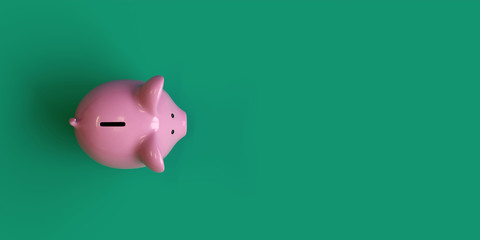 piggy bank, investment concept, 3d rendering,conceptual image.