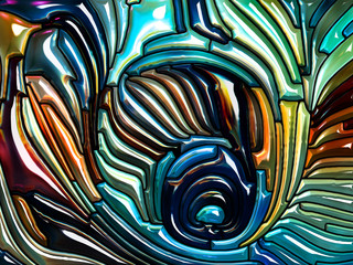 Colorful Iridescent Glass