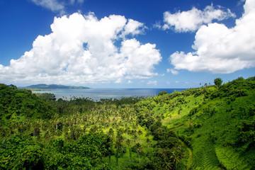 View of Bouma National Heritage Park and Somosomo strait on Taveuni Island, Fiji