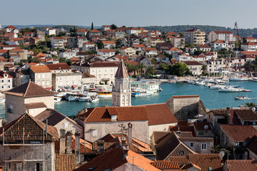Trogir, a historic town on the Adriatic coast of Croatia. The town's center is a UNESCO World Heritage Site for its Venetian architecture.