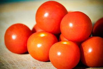 Close-up fresh tomatoes