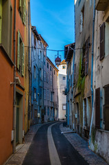 Colourful French town street