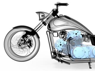 3D render - bike xray illustration