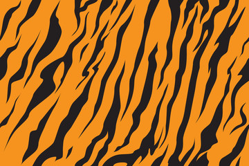 Print stripe animals jungle tiger fur texture pattern seamless repeating orange yellow black