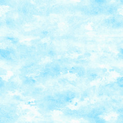 Vector blue watercolor background. Abstract grunge texture