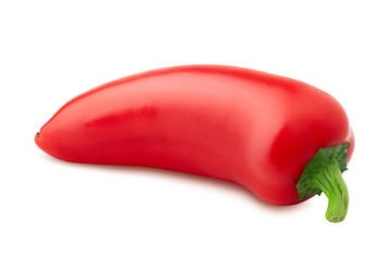 red hot chilli peppers on white background, isolated, high quality photo, clipping path