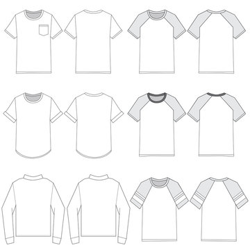 Vector template for Men's Fashion tops
