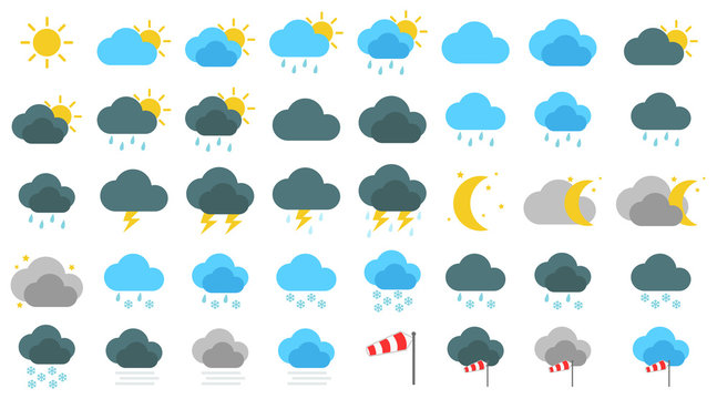 Simple Wetter Icons Set / Sammlung