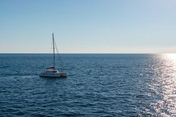 Sailing boat in Malta