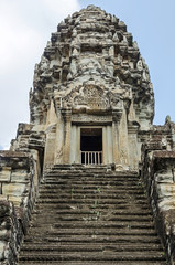 Tower of Angkor Wat with the steep stairways