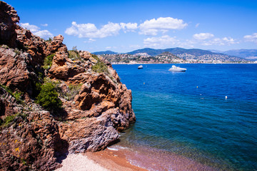 a  landscape of the french coast close to Cannes