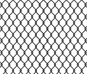 Fence black background - vector