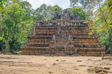 Phimeanakas, a Hindu temple  inside the walled enclosure of the Royal Palace of Angkor Thom, Cambodia