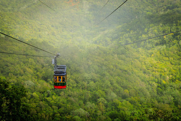 Cable car cabin on Mount Isabel de Torres, Puerto Plata, Dominican Republic. Wall mural