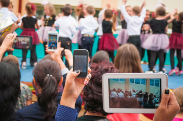 Multiple devices capturing video at an event