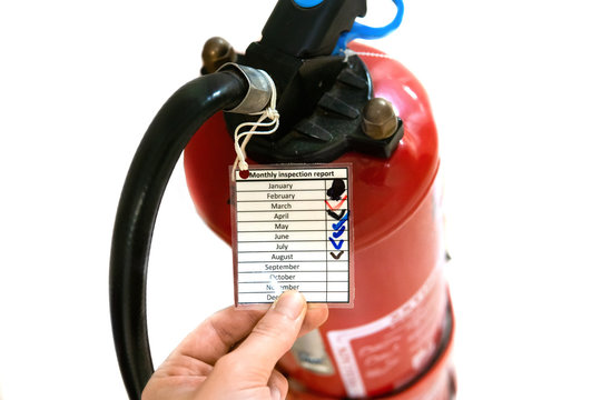 Ship or vessel fire-fighting equipment. monthly check and maintenance of fire extinguisher as per FSS code