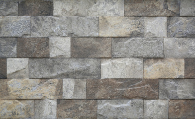 Close-up modern grey stone tile texture brick wall