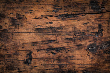 Old wood plank texture background. Natural weathered texture of wooden boards.	 Wall mural