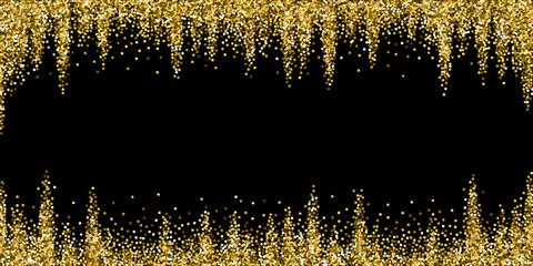 Round gold glitter luxury sparkling confetti. Scat