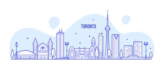Toronto skyline Canada big city buildings vector