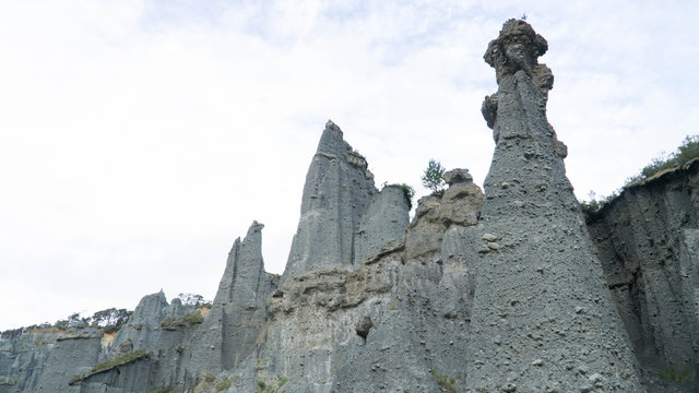 Magnificent Putangirua Pinnacles close to Palliser bay, North Island, New Zealand