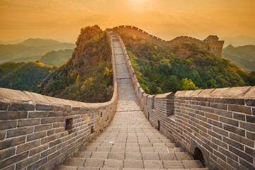 Foto op Canvas Chinese Muur The beautiful great wall of China - Jinshanling section near Beijing