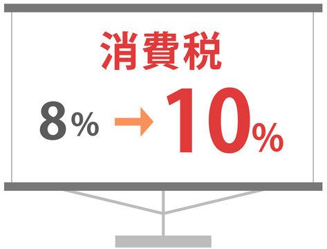 消費税増税法案 8% 10%計画 イラスト素材