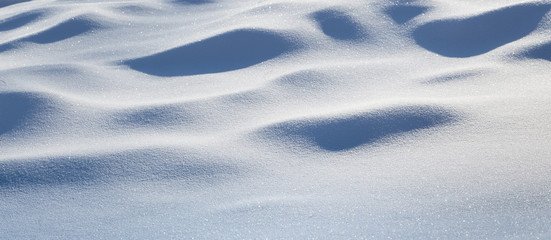 fresh snow closeup