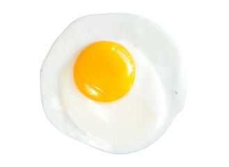 Keuken foto achterwand Gebakken Eieren Fried egg isolated on white background