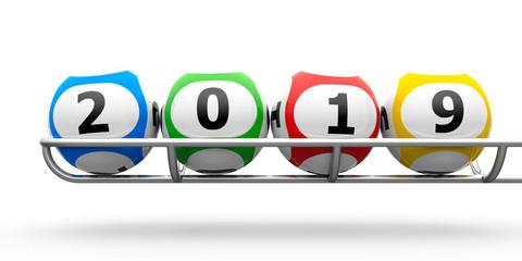 Lottery balls 2019 frame