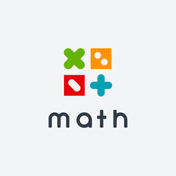 Simple Math Education logo designs concept vector