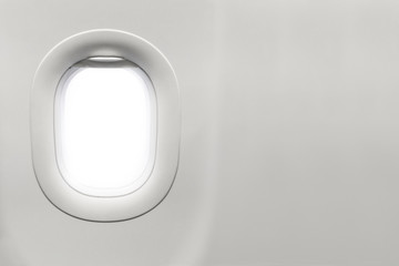 Isolated airplane window
