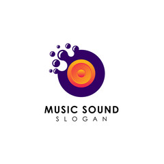 dots music sound logo design