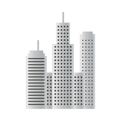 Illustration of building skyscraper design template vector isolated