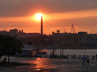 Sunset in Town - Naval Port