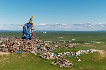 Ovoo over Erdene Zuu Karakorum Mongolia