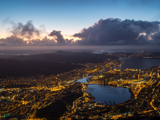 View from Ulriken at night