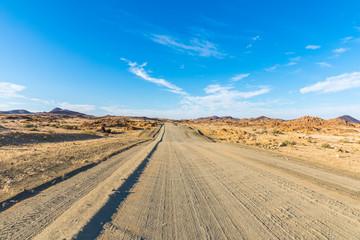 The roads of Namibia in Richtersveld Transfrontier Park, near Ai-Ais.