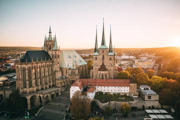 Erfurter Dom aus der Luft Fototapete