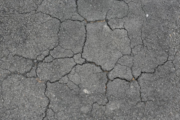 Cracked asphalt background. Wall mural