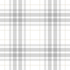 Tartan Seamless Pattern Background in Pastel Grey, Dusty Beige And White  Color  Plaid