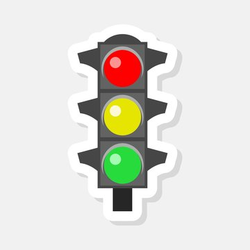 Traffic Lights Realistic sticker