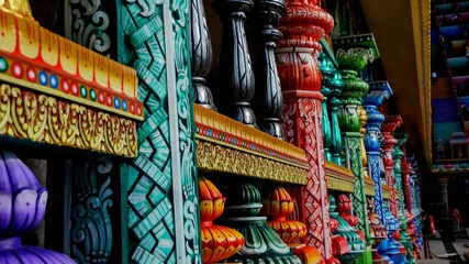 Colorful Hindu temple in Batu Caves Malaysia