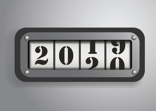 Vector : Counter roll with 2019-2020 concept